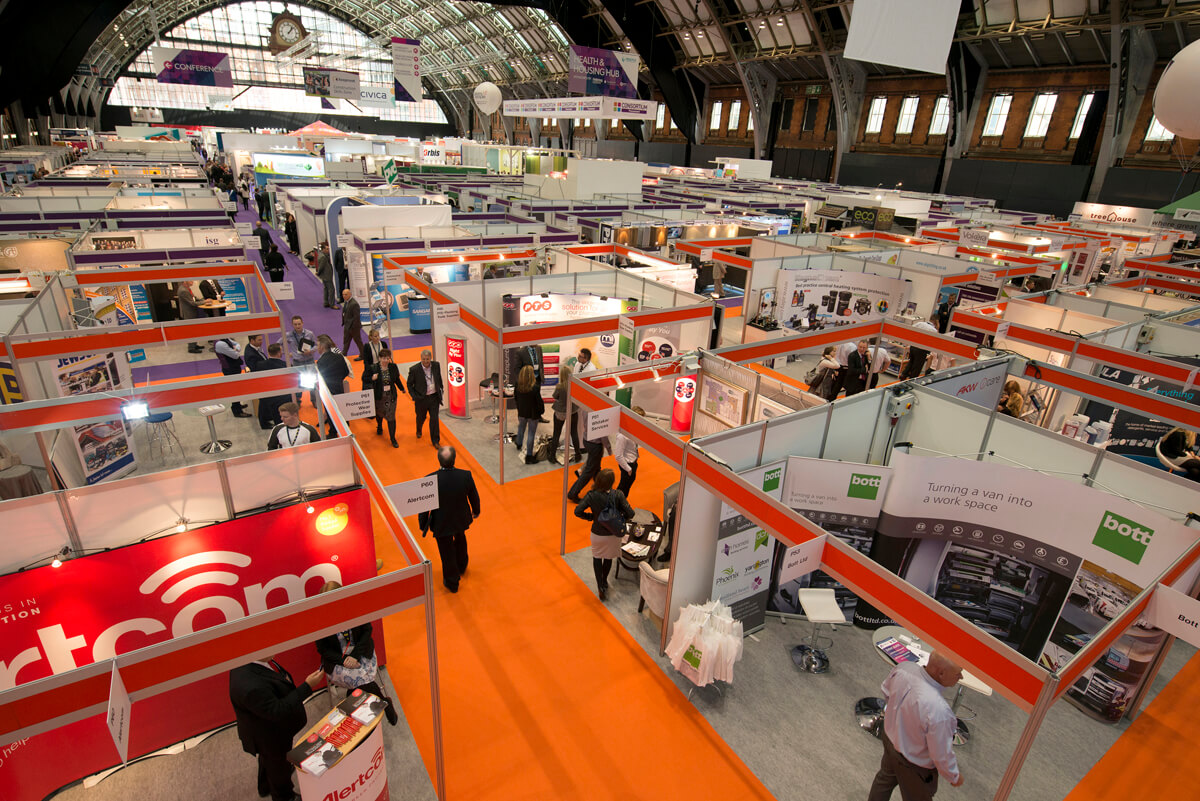 Indoor mast photography Trade Fair Manchester Central