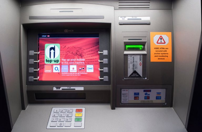 Detailed photograph of ATM machine for brochure