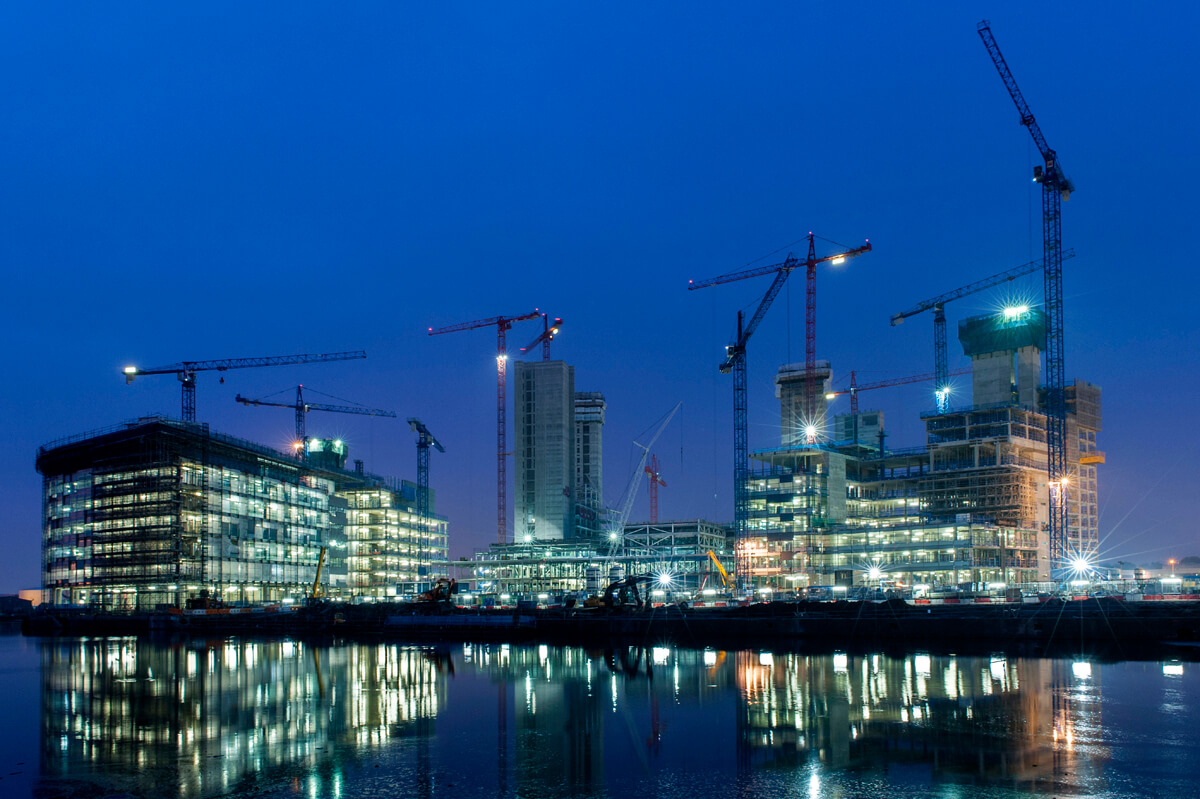 Construction photography BBC media city Salford