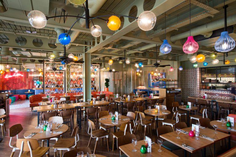 Zizi Italian Restaurant Liverpool interior photograph
