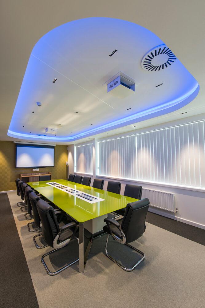 Newly installed boardroom interior