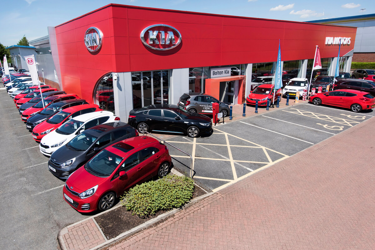Car dealership aerial and mast photographer Manchester