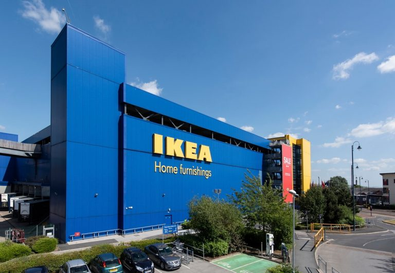 Aerial mast photography Manchester Ikea