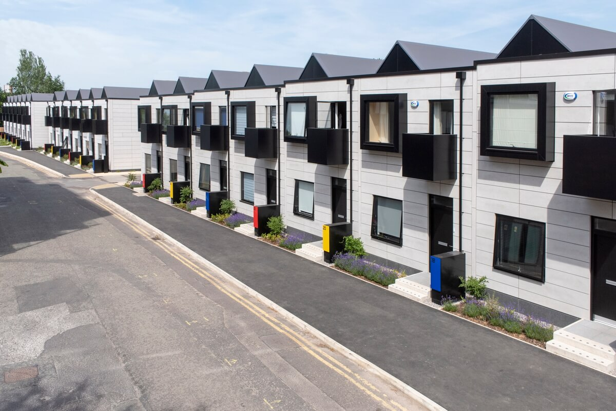 New housing development high level photo