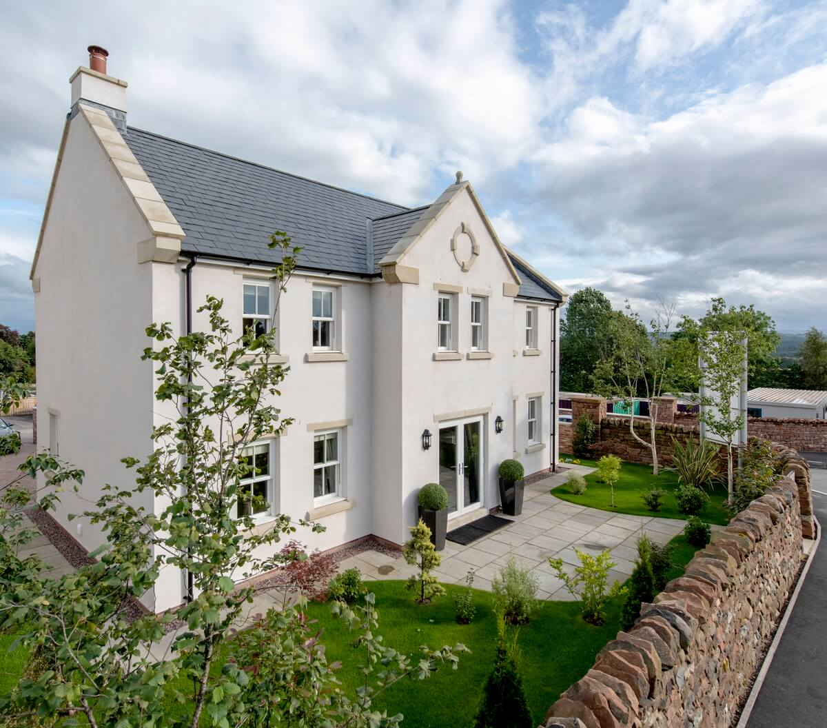 Show home elevated aerial photography Lancashire